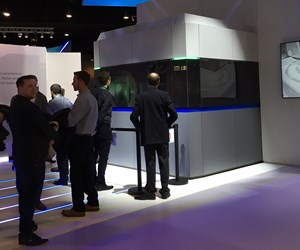 GE Additive's large-formal ATLAS metal 3D printer as seen at Formnext