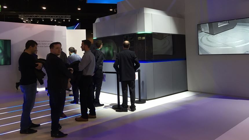 GE Additive's large-formal ATLAS metal 3D printer as seen at Formnext