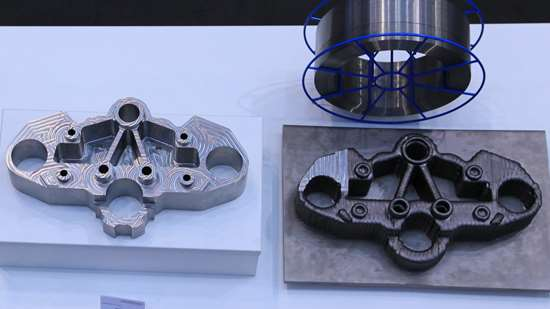 Milled and additively manufactured bearing blocks