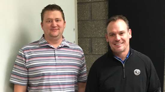 Lou Young,  president, and John Tensbusch, CEO, Linear AMS