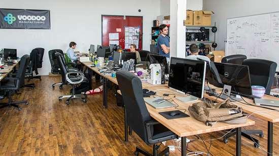 Office space at Voodoo Mfg.