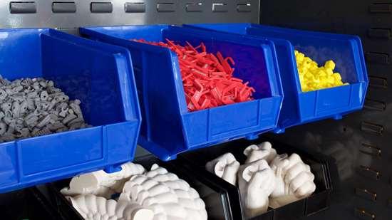 Sample 3D-printed parts