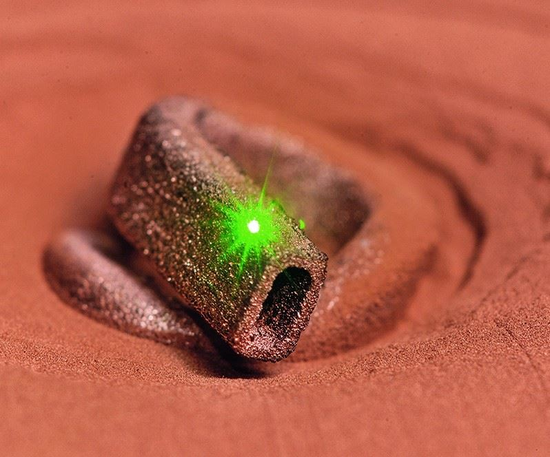 Green laser used in selective laser melting