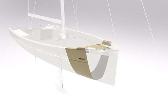Livrea Yachts boat hull using two of Sabic's Thermocorp materials