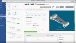 A screengrab from 3YourMind's 3D printing integration for Siemens Solid Edge product lifecycle management software.