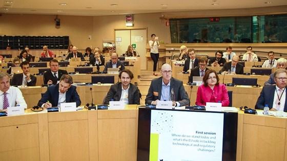 European Parliament members Onno Ponfoort, Daan A.J. Kersten, Alexander Oster, Ulli Klenk, Kirsi Ekroth-Manssila and Filip Geerts.