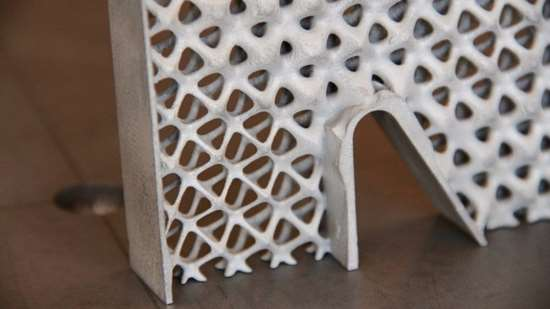 Close-up of the lightweight airplane seat frame