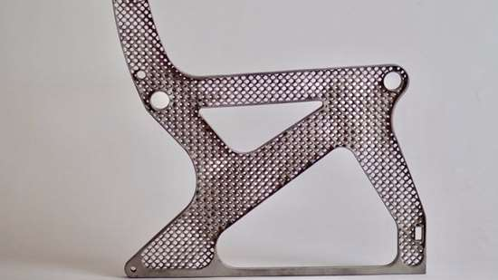 Finished airplane seat frame