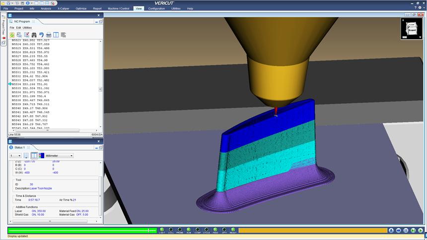 Screenshot from CGTech Vericut 8.1