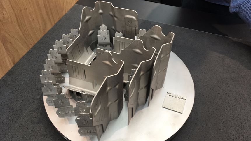 Trumpf 3D printing replicates stamped parts