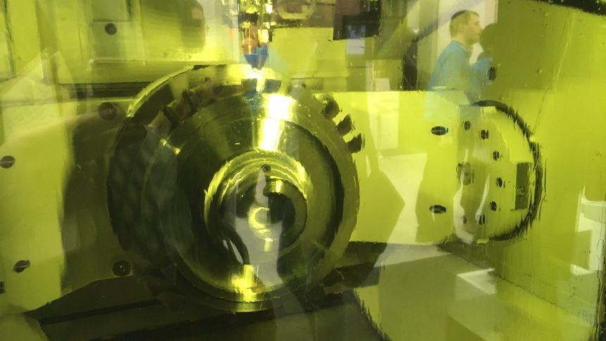 Okuma hybrid machine tool makes turbine disk