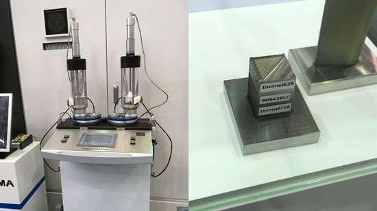 Okuma powder reservoirs for multi-metal deposition