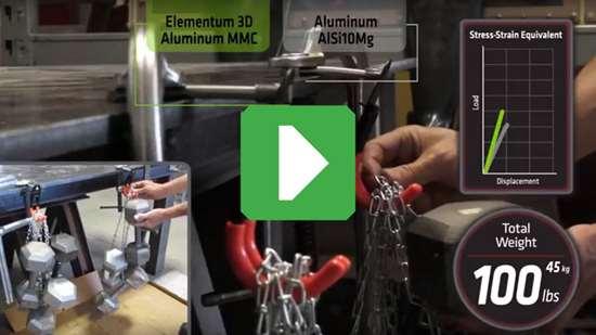 Elementum 3D Aluminum MMC hook versus 1018 steel hook
