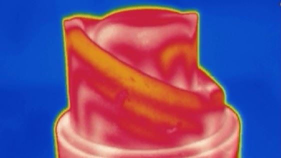 Thermal simulation of the surface temperature of the core insert