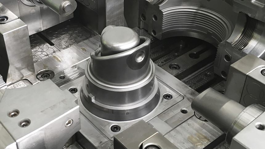 Additively manufactured mold insert placed in the injection mold