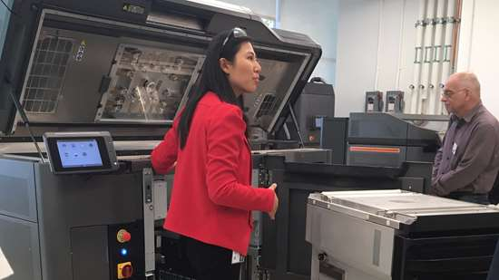 Lihua Zhao, lead for HP Labs 3D printing research