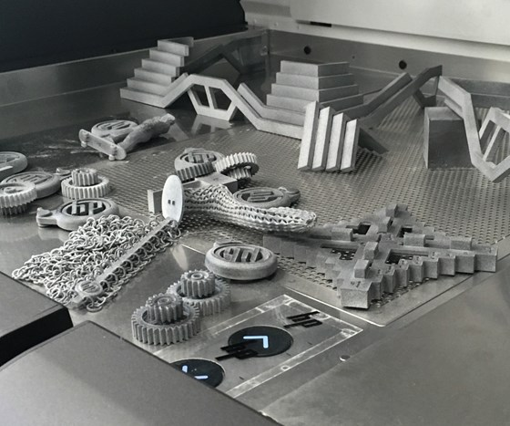 3D-printed parts made with HP Multi Jet Fusion (MJF)
