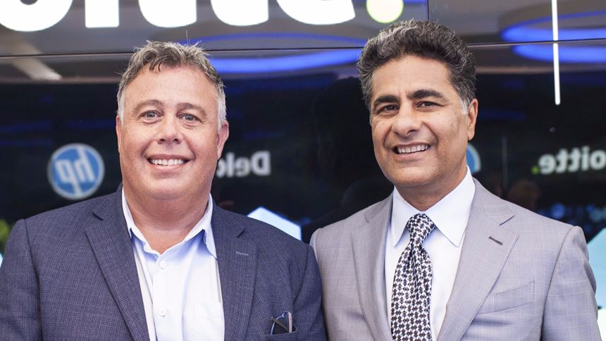HP CEO Dion Weisler and Deloitte CEO Punit Renjen
