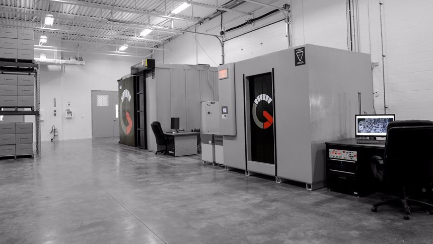 Two 450-kv computed tomography systems in the Jesse Garant Metrology Center lab