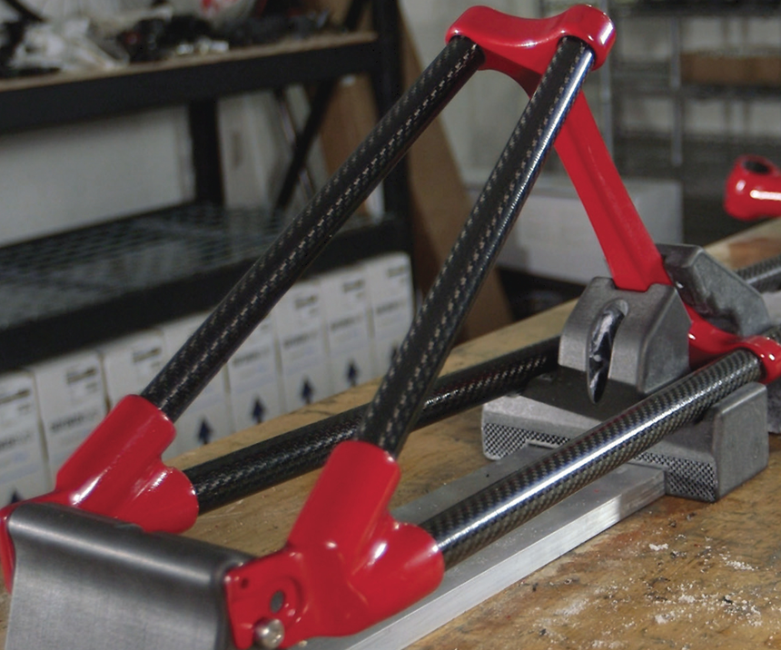 Trike frame with custom 3D-printed lugs