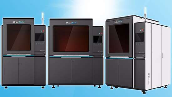 UnionTech RS Pro 450, RS Pro 600 and RS Pro 800 stereolithography 3D printers
