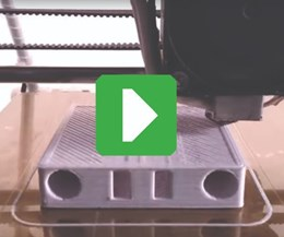 screenshot of 3D printer running