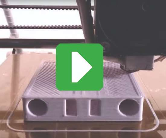 screenshot of 3D printer running