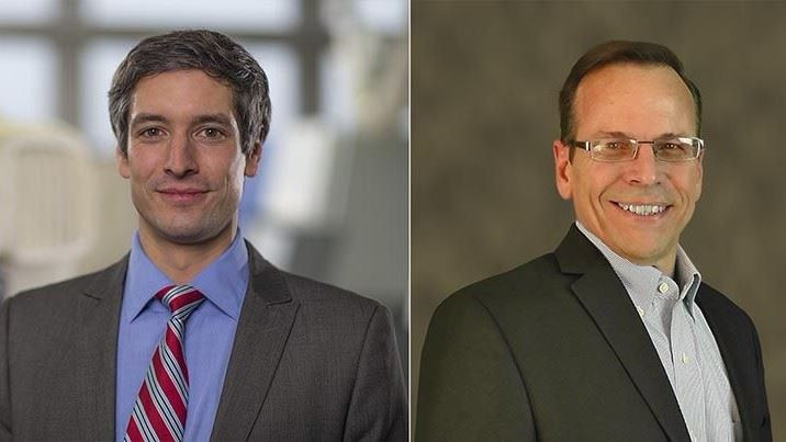 Dr. Ing. Dominik Rietzel (left) and Todd Grimm