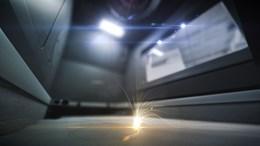 metal 3D printer interior