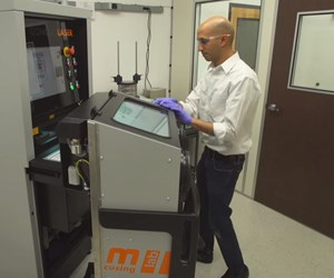 Dhruv Bhate, PADT, works with Concept Laser mlab 3D printer