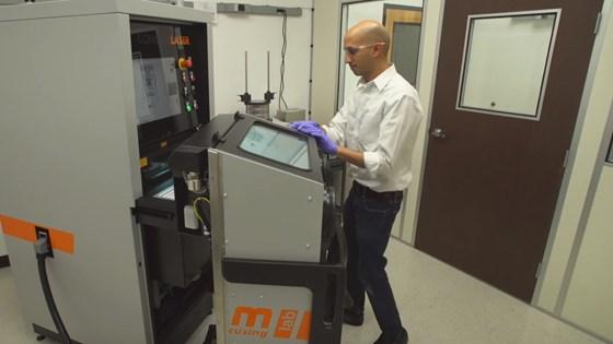Dhruv Bhate, PADT, works with Concept Laser mlab 3D printer