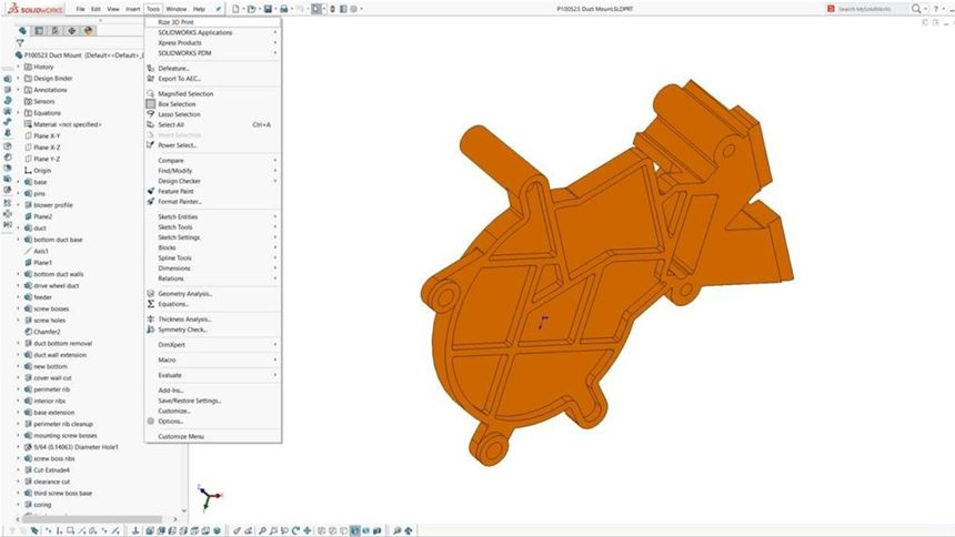 Rize add-in for Solidworks