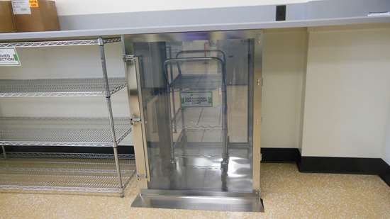 The airlock to the cleanroom at Slice Mfg. Studios