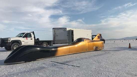 Victory Motorsports' Streamliner at the Bonneville Salt Flats