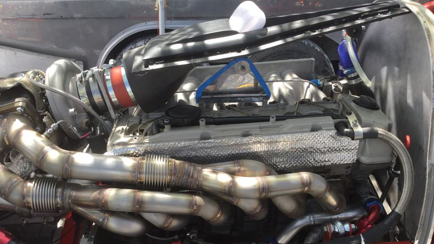 NACA duct in the engine