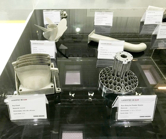 Parts from the Lasertec 30 SLM, Additive Manufacturing Magazine