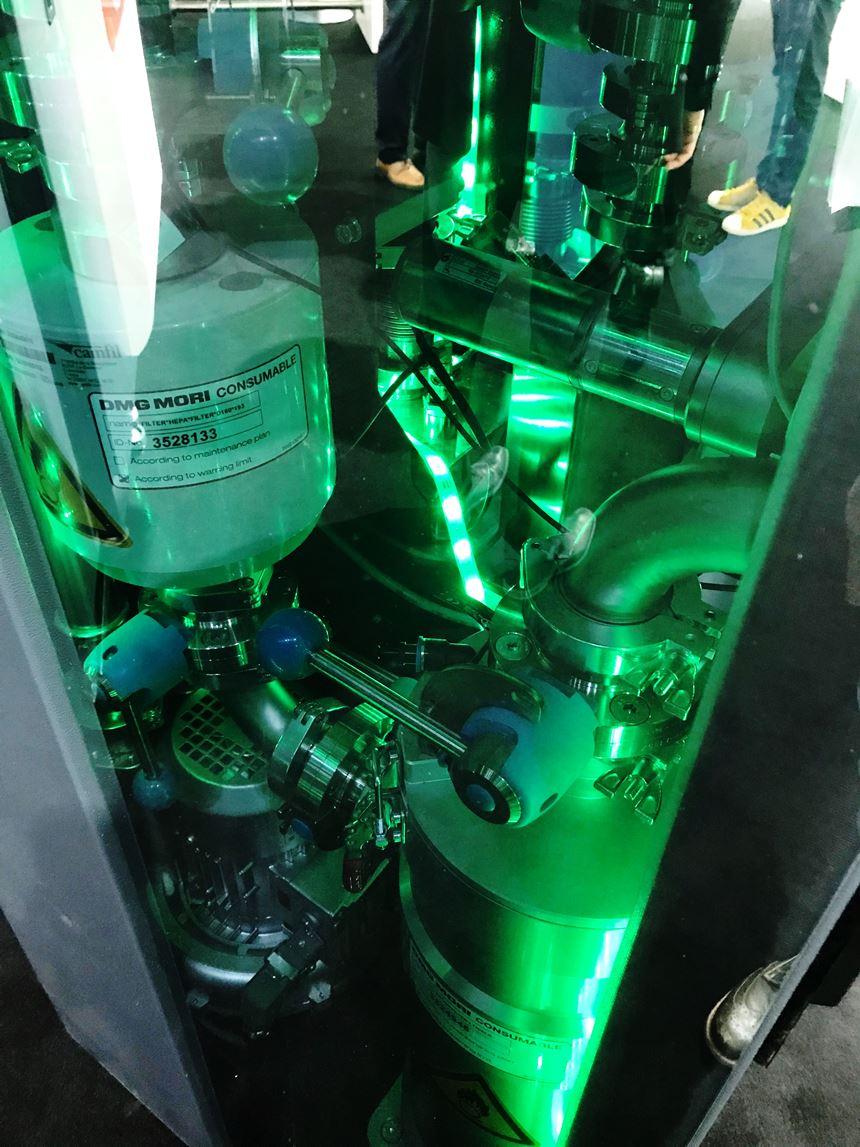 Lasertec 30 powder chamber module, Additive Manufacturing Magazine