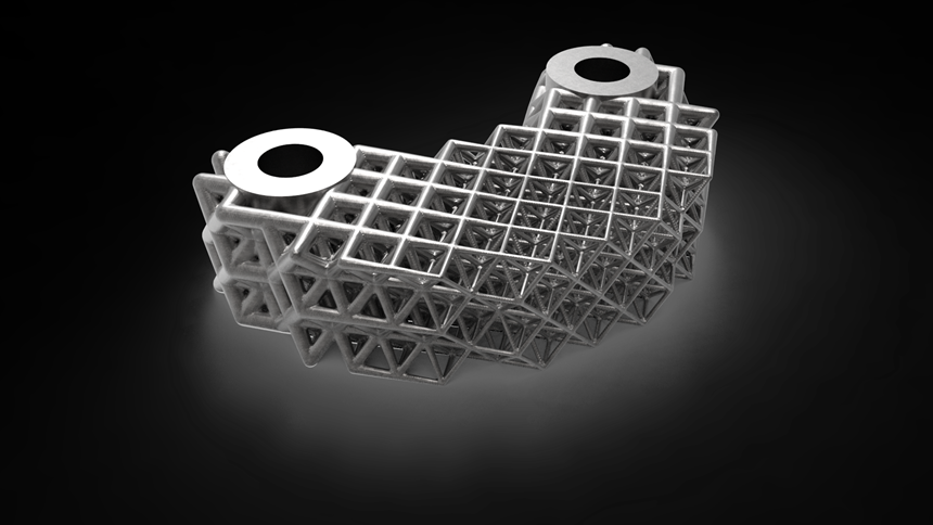 3D-printed nTopology part with element lattice
