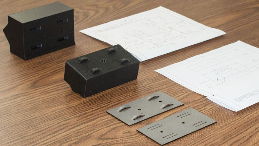 3D-printed punch and die with sheet metal parts