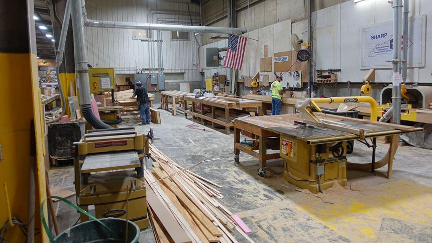 Carpentry shop at Gate Precast