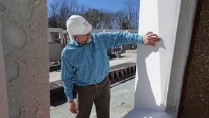 Precast concrete punched windows for Domino Sugar Refinery