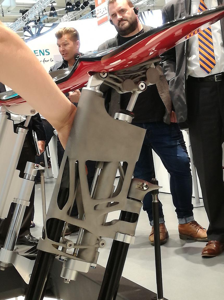 Bionic design at the rear wing of a Bugatti