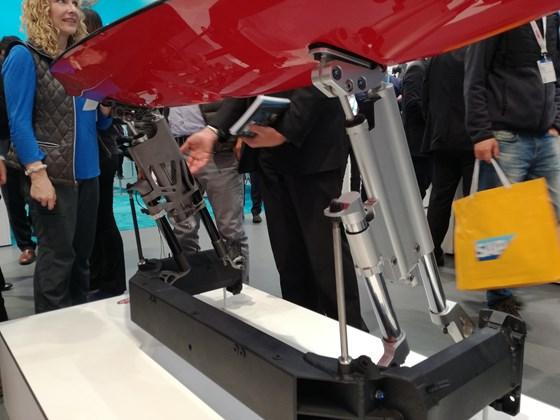 Original Bugatti wing support structure