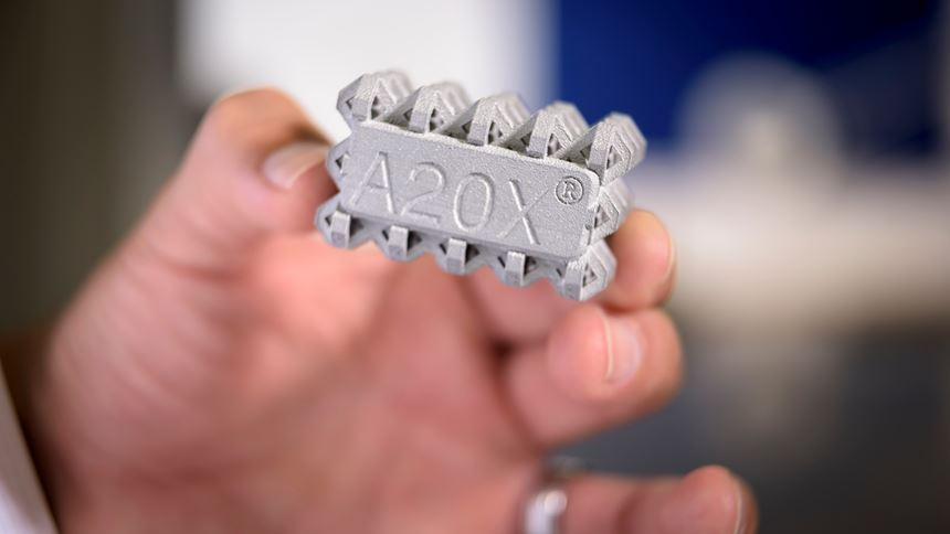 Additively manufactured A20X part