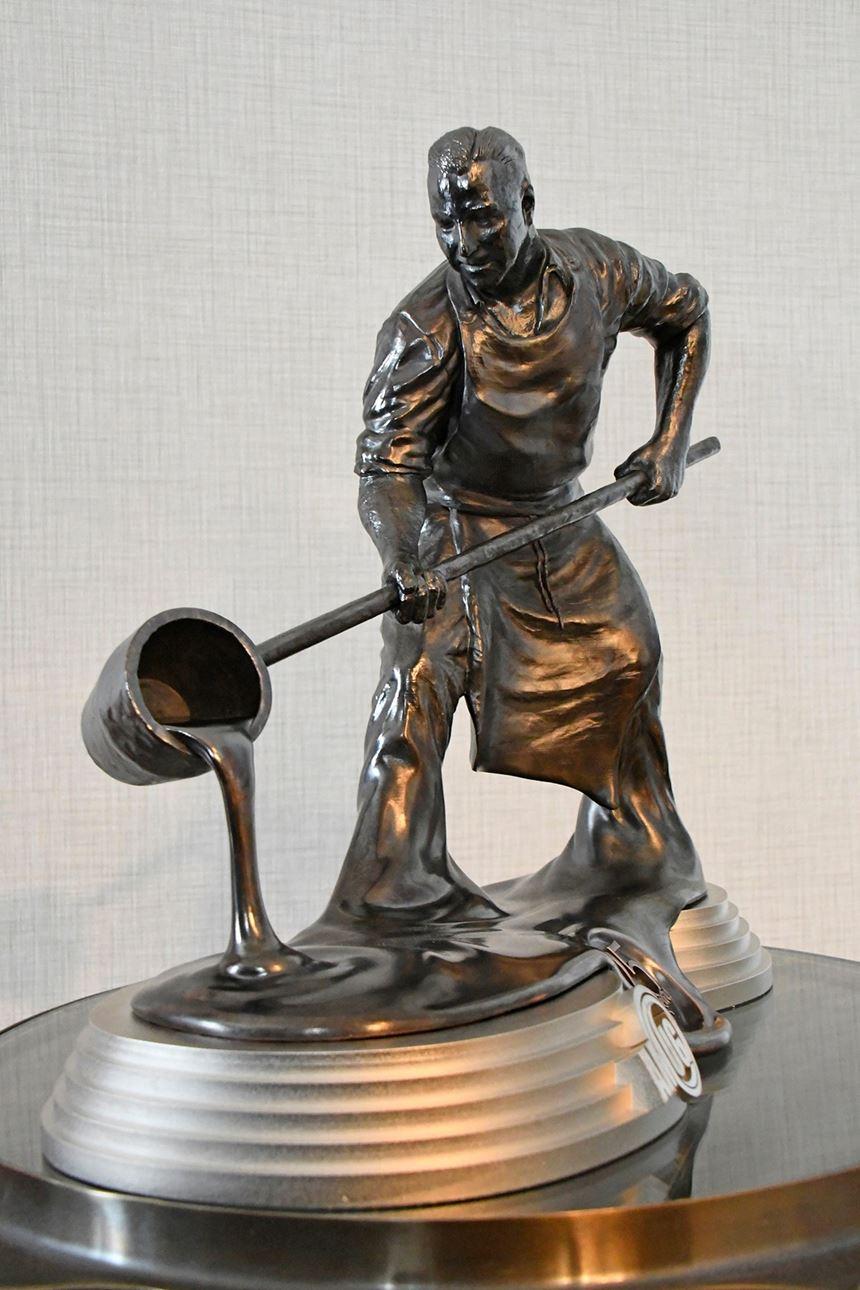 The award featuring Sorovetz's likeness