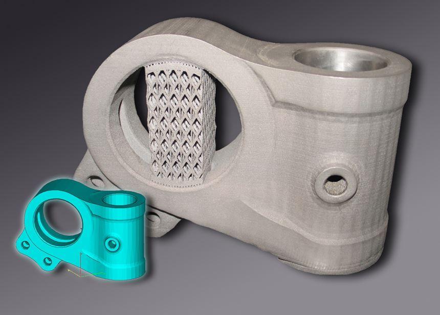 3d-printed landing gear knuckle made by Calram