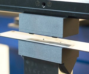 sheet metal on a 3D-printed press brake punch and die