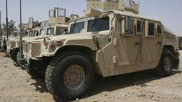 stock photo of U.S. military vehicles