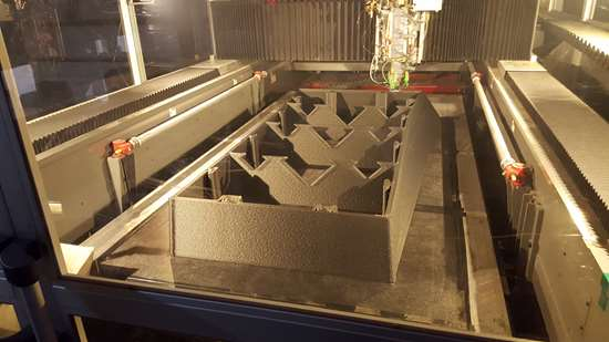 form for precast concrete being printed on a BAAM 3D printer at AES