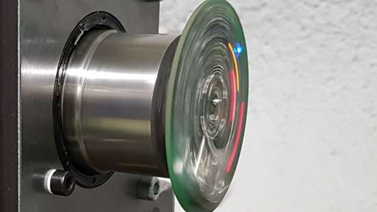 Rotating shaft in test bench
